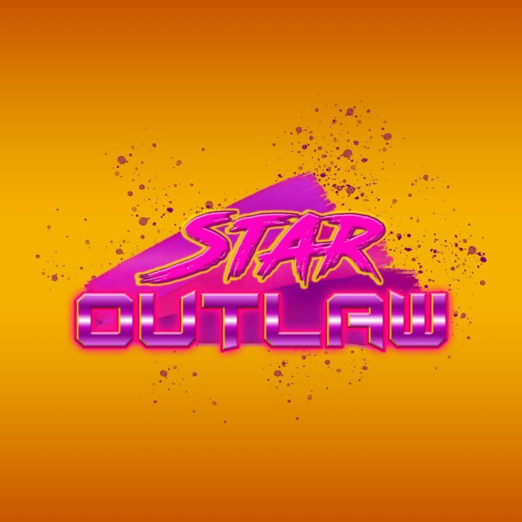 Логотип для лазертага (космический шутер) в стиле 80-ых v.1