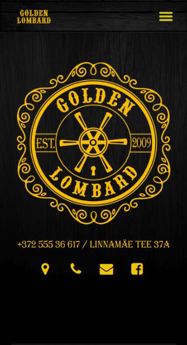 Мобильная версия сайта Golden Lombard