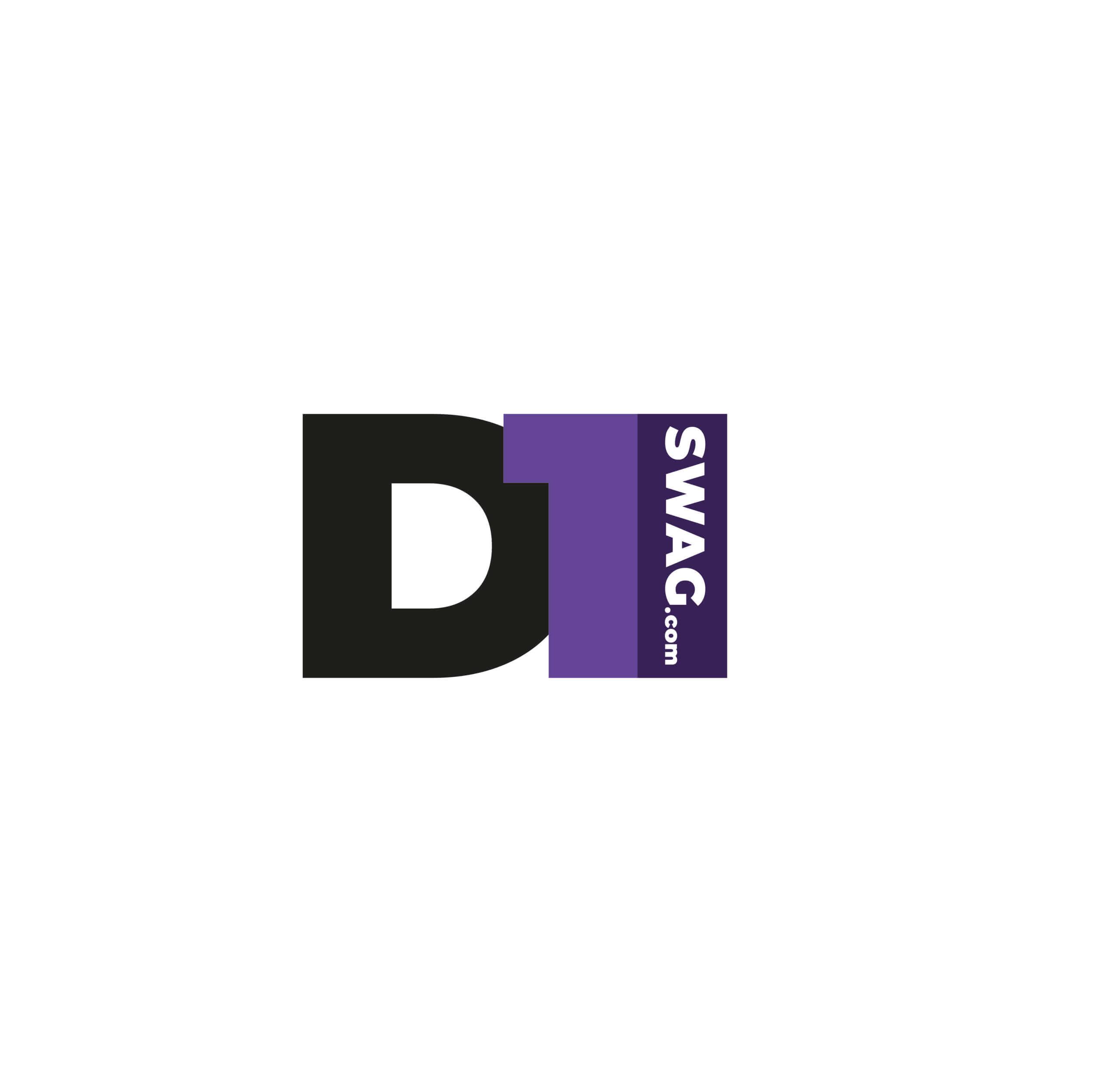 Логотип компании по производству мерча футбольных команд американских университетов - D1 Swag.com вариант №1